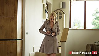 Angel Wicky seduced for a threesome by two nasty men