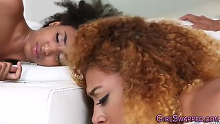 Ebony stepteen jizzed on