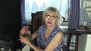 GRANNY SKINNY HAIRY KATALIN SLUT FOR MONEY
