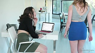 Amazing Abella Danger and her friend know how to use big toys