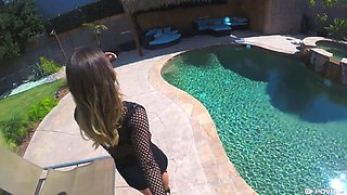 Sizzling hottie with juicy ass Uma Jolie is fucked in hot POV clip