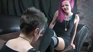 nylon feet lesbian sniff pantyhose smelling new sisters dom theraphist ....