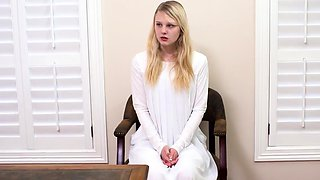 Blonde teen crony's daughter takes xxx It was like he