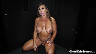 HORNY MILF MAKES LOVE TO COCKS WITH HER MOUTH