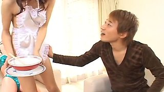Aki Anzai Maid Serves Up A Blowjob
