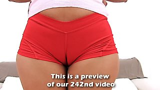 Big Ass Latina Working Out In Tight Lycra Shorts Cameltoe