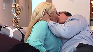 Summer Brielle is lusted mature blonde who fucks with boss