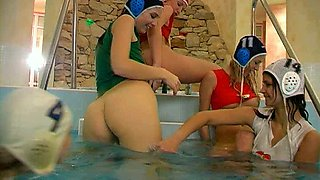 Scorching lesbians with nice asses take part in hot orgy adventure