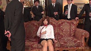 Japanese sweet thing Tomoe Nakamura pleasures by many businessmen