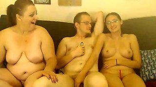 Bigtit brunette gives fat gloryhole dick amazing wet handjob