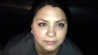 Chubby latina hookup cum and swallow