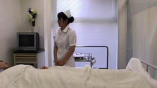 Asian nurse gives her favorite patient everything he wants