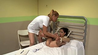 Lezdom Nurse Disciplines Her Patients Cunt