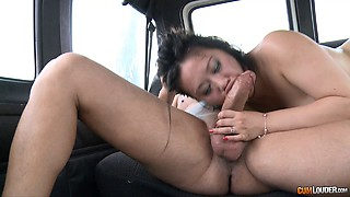 Her Asian pussy definitely deserves a nice poking inside the car