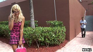 WANKZ- Leggy Blond Schoolgirl Gets Spermed