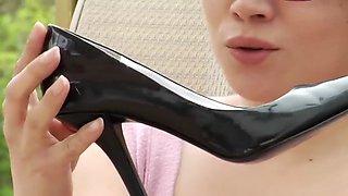 sexy girl nylon feet