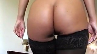 Stunning blondie with big natural breasts loves sex