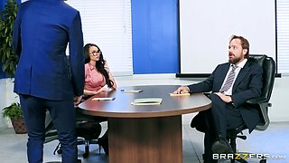 Raven Bay fucked up her narrow anal hole by a horny boss