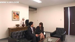 Exotic Japanese chick Ren Bitou in Best Secretary JAV video