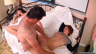step-daughter-fucked next to sleeping mom