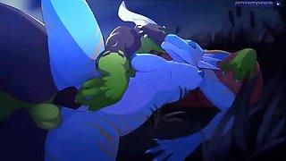 3d hot animated dragon big tits fuck