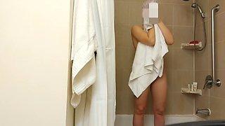 wife naked, bathroom hidden cam