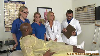 Doctor and nurses cocksucking and fucking
