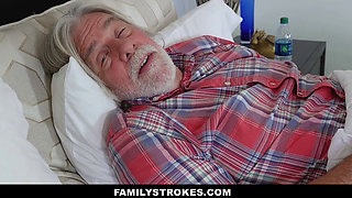 FamilyStrokes - Cute Housewife Fucks Stepson