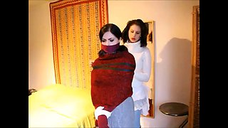 mummified, bound and amazed by the woman