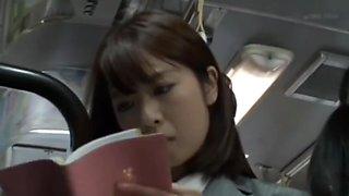 Asian Schoolgirl Seduces Teacher on Public Bus