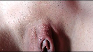 Big clit pussy close up on a web camera