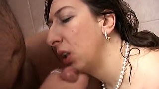 Italian Horny MILF Fucking in BathRoom