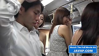Hot asian teen sluts on the public bus
