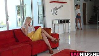 Katy Janes turn to blowjob the pool guys big cock
