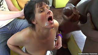Sophie Son Mari fucked by big black cocks