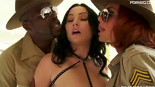 Veronica Avluv and Veruca James with Lexington Steele - Anal Boot Camp 2 Scene 4
