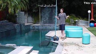 Horny Big Tits MILF Seduces Big Dick Pool Boy