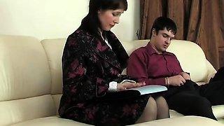 Boy masturbate to his female boss PT1- More On HDMilfCam.com