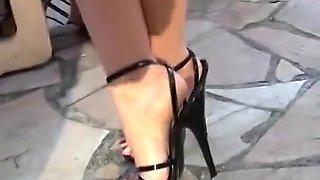 Best homemade Outdoor, High Heels xxx video