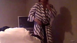 Voyeur clip with my chubby GF getting dressed in the bedroom