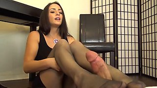 teacher mesmerizing footjob