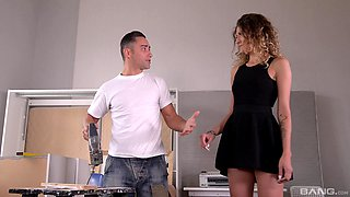 MILF Latina bombshell Stasy Rivera cum covered in the kitchen