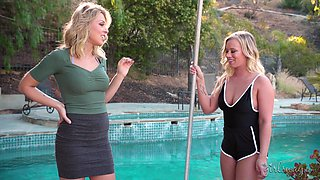 Zoey Monroe has to make out with a friend while they masturbate
