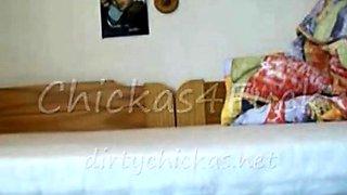 cameltoe teen spread on bed