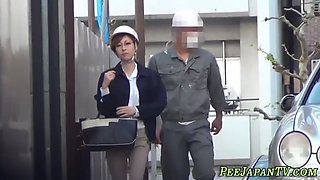 Japanese boss urinating