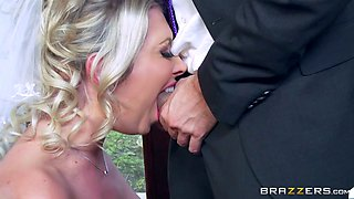lexi lowe sucking big cock while her new husband waits for his bride