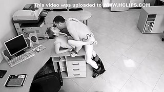 Office sex: employees hot fuck got caught on security office camera
